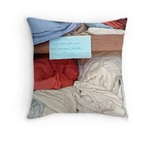 know when to fold 'em, when to roll 'em Throw Pillow