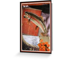 Leaping Trout Greeting Card
