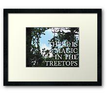 Magic Treetops (Sky and Brambles) Framed Print