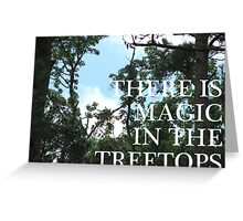 Magic Treetops (Sky and Brambles) Greeting Card