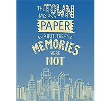 Paper Towns John Green Quote Photographic Print