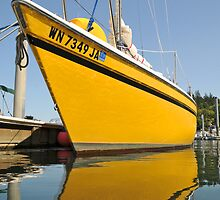 Boat in the Hoods Canal Marina by Carl LaCasse