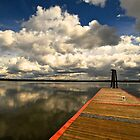 Clouds and Reflection and the Dock by Carl LaCasse