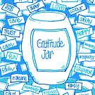 Gratitude Jar (on Blue) by Sammy Nuttall