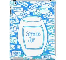 Gratitude Jar (on Blue) iPad Case/Skin