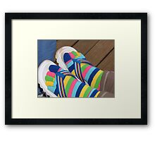 Not cold enough for shoes! Framed Print