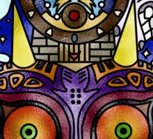 Majora's Mask Stained Glass Sticker