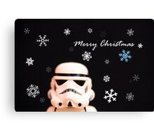Trooper Christmas card Canvas Print