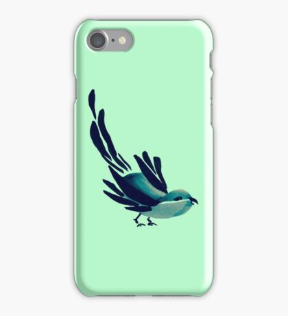 Sumi-e Bird Detail iPhone Case/Skin
