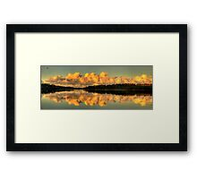 Let Us Reflect - Narrabeen Lakes, Sydney (35 Exposure HDR Panorama) - The HDR Experience Framed Print