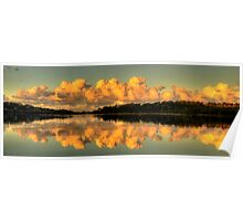Let Us Reflect - Narrabeen Lakes, Sydney (35 Exposure HDR Panorama) - The HDR Experience Poster