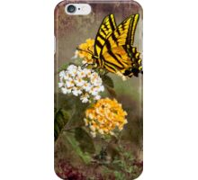Lantana and Incoming Butterfly iPhone Case/Skin