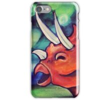 The happiest Triceratops  iPhone Case/Skin