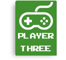 Player Three Canvas Print