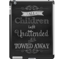 Humorous Chalkboard typography business decor iPad Case/Skin