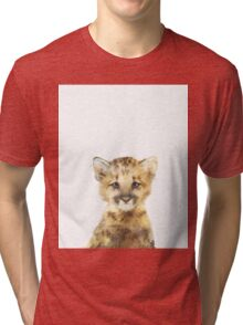 Little Mountain Lion Tri-blend T-Shirt