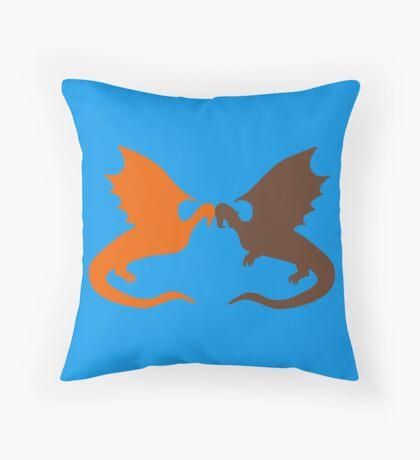 Shadow & Spotlight-Blue Throw Pillow