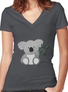 Koala Bear Women's Fitted V-Neck T-Shirt