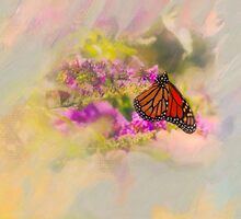 Monarch Butterfly On Butterfly Bush by Diane Schuster
