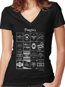 Tea Time with Ramona Flowers Women's Fitted V-Neck T-Shirt