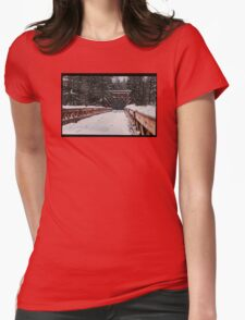 Nisqually River Suspension Bridge Womens Fitted T-Shirt