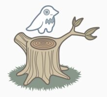 ghost bird and tree trunk Kids Clothes