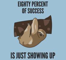 Success Sloth Slogan - Funny One Piece - Short Sleeve