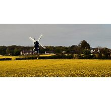 Windmill on a dull day Photographic Print
