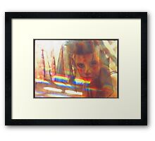golden girl 2 Framed Print