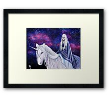 The Unicorn Queen Framed Print