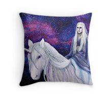 The Unicorn Queen Throw Pillow
