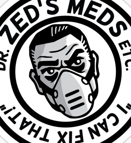 Zed's Meds Sticker