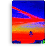 """""""Multi-colored Sundown in California"""" Canvas Print"""