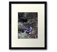 Running clear Framed Print