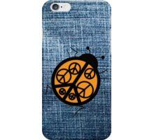 orange peace ladybug iPhone Case/Skin
