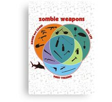 Zombie weapons Canvas Print