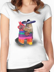 Mexican Squirrel Women's Fitted Scoop T-Shirt