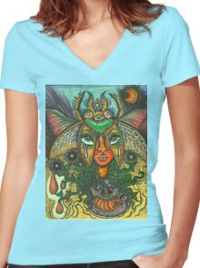 Our Lady of the Metamorphosis Women's Fitted V-Neck T-Shirt