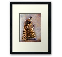Dalek Flies! Framed Print