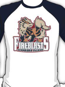 Cinnabar Island Fire Blasts: Arcanine Sport Logo T-Shirt