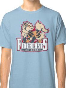 Cinnabar Island Fire Blasts: Arcanine Sport Logo Classic T-Shirt
