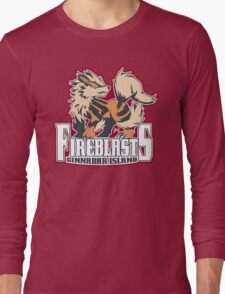 Cinnabar Island Fire Blasts: Arcanine Sport Logo Long Sleeve T-Shirt