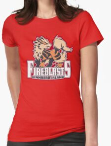 Cinnabar Island Fire Blasts: Arcanine Sport Logo Womens Fitted T-Shirt