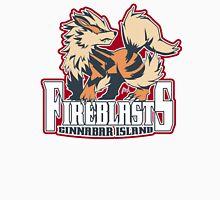 Cinnabar Island Fire Blasts: Arcanine Sport Logo Men's Baseball ¾ T-Shirt