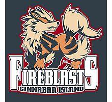 Cinnabar Island Fire Blasts: Arcanine Sport Logo Photographic Print
