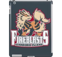 Cinnabar Island Fire Blasts: Arcanine Sport Logo iPad Case/Skin