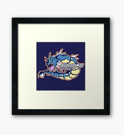 Cerulean City Hydro Pumps: Gyarados Sport Logo Framed Print