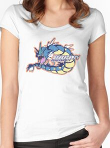 Cerulean City Hydro Pumps: Gyarados Sport Logo Women's Fitted Scoop T-Shirt