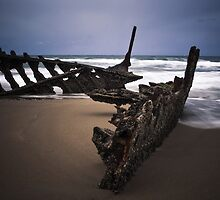 The Dicky Wreck - Caloundra Qld Australia by Beth  Wode