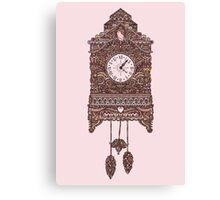 Autumn Cuckoo Clock Canvas Print